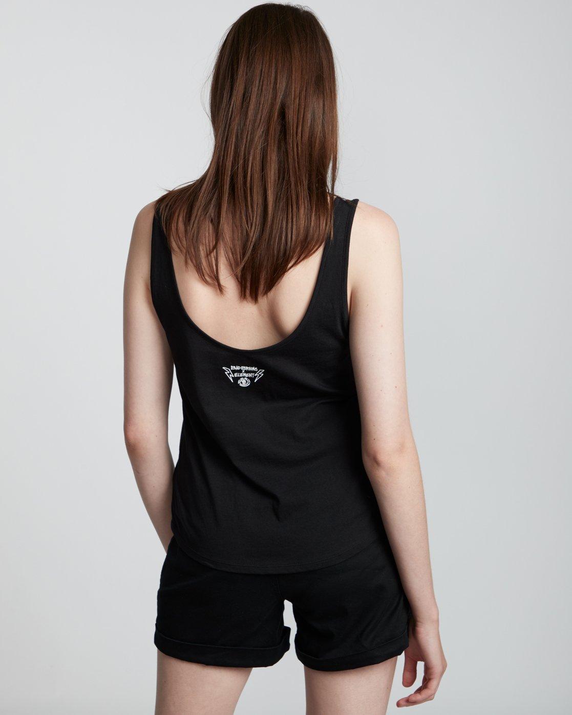 2 Bad Brains Low - Organic Cotton Vest Top for Women Black S3SGA6ELP0 Element