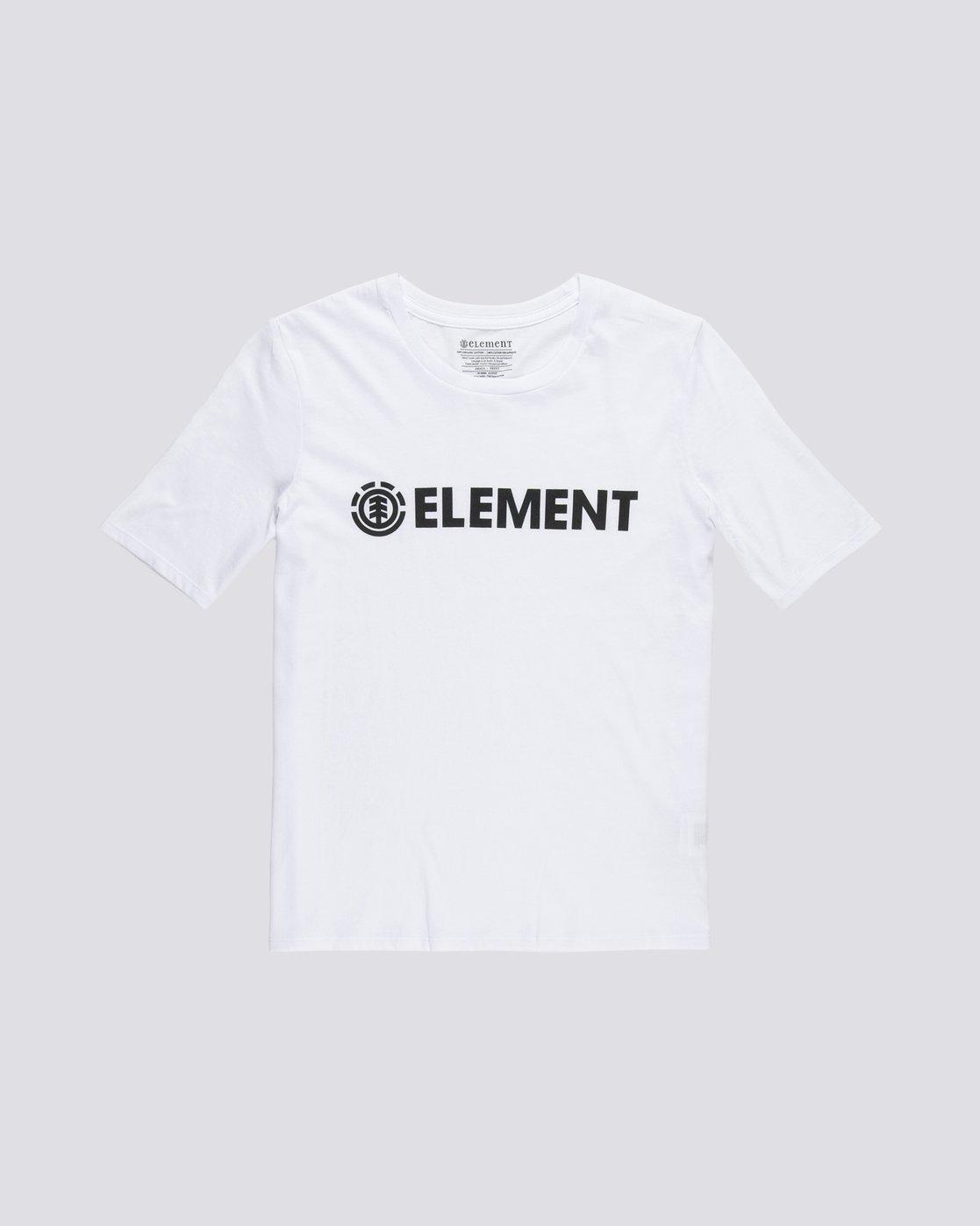 0 Element Logo - T-Shirt manches courtes en coton biologique pour Femme Blanc S3SSA1ELP0 Element