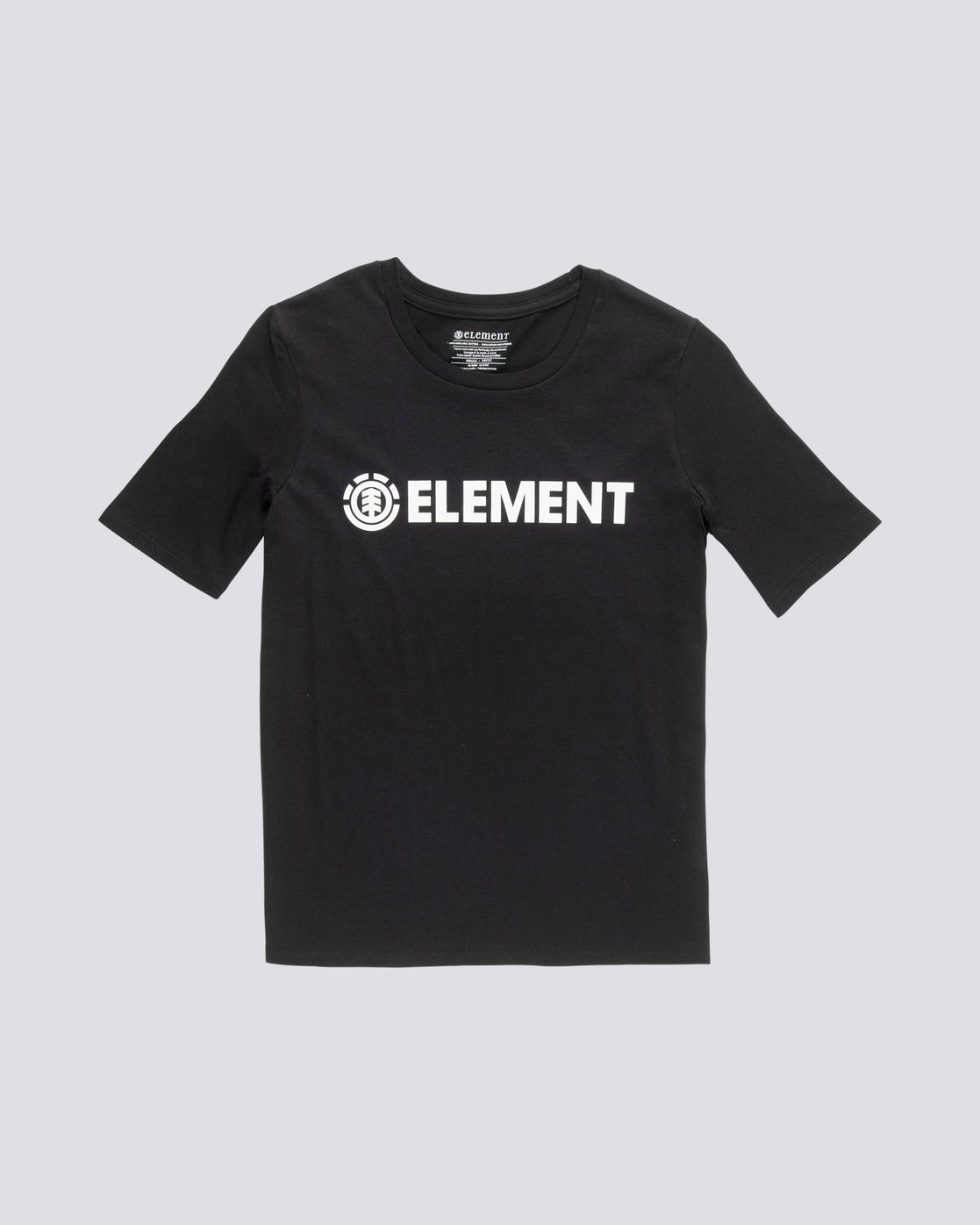 2 Element Logo - T-Shirt manches courtes en coton biologique pour Femme Noir S3SSA1ELP0 Element