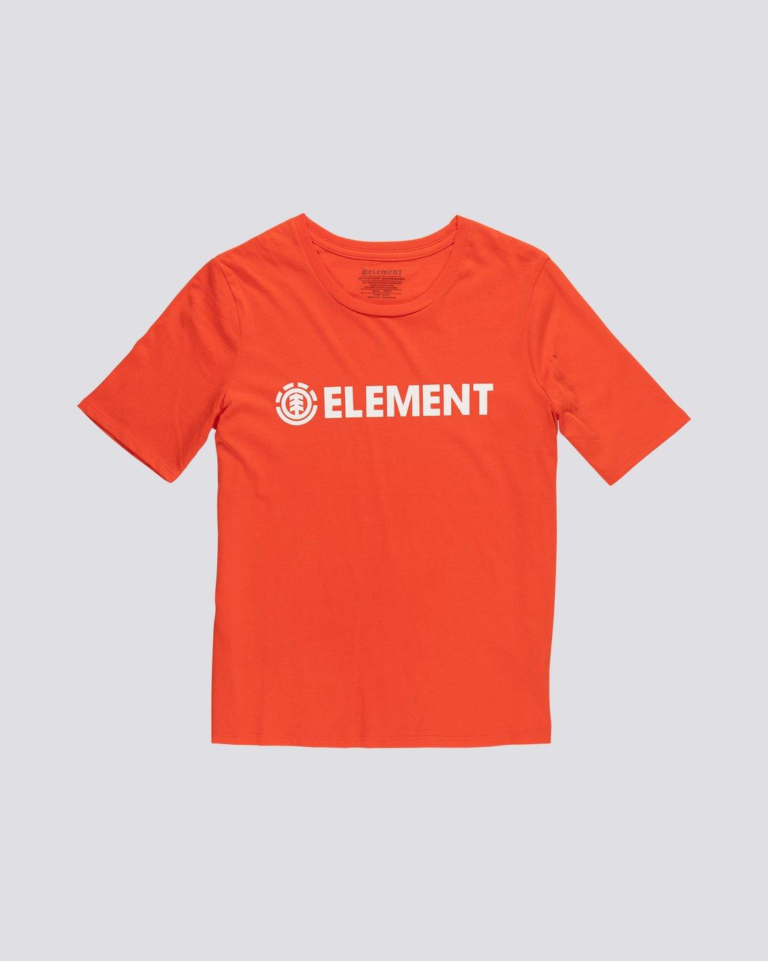 0 Element Logo - Organic Cotton Short Sleeve T-Shirt for Women Orange S3SSA1ELP0 Element