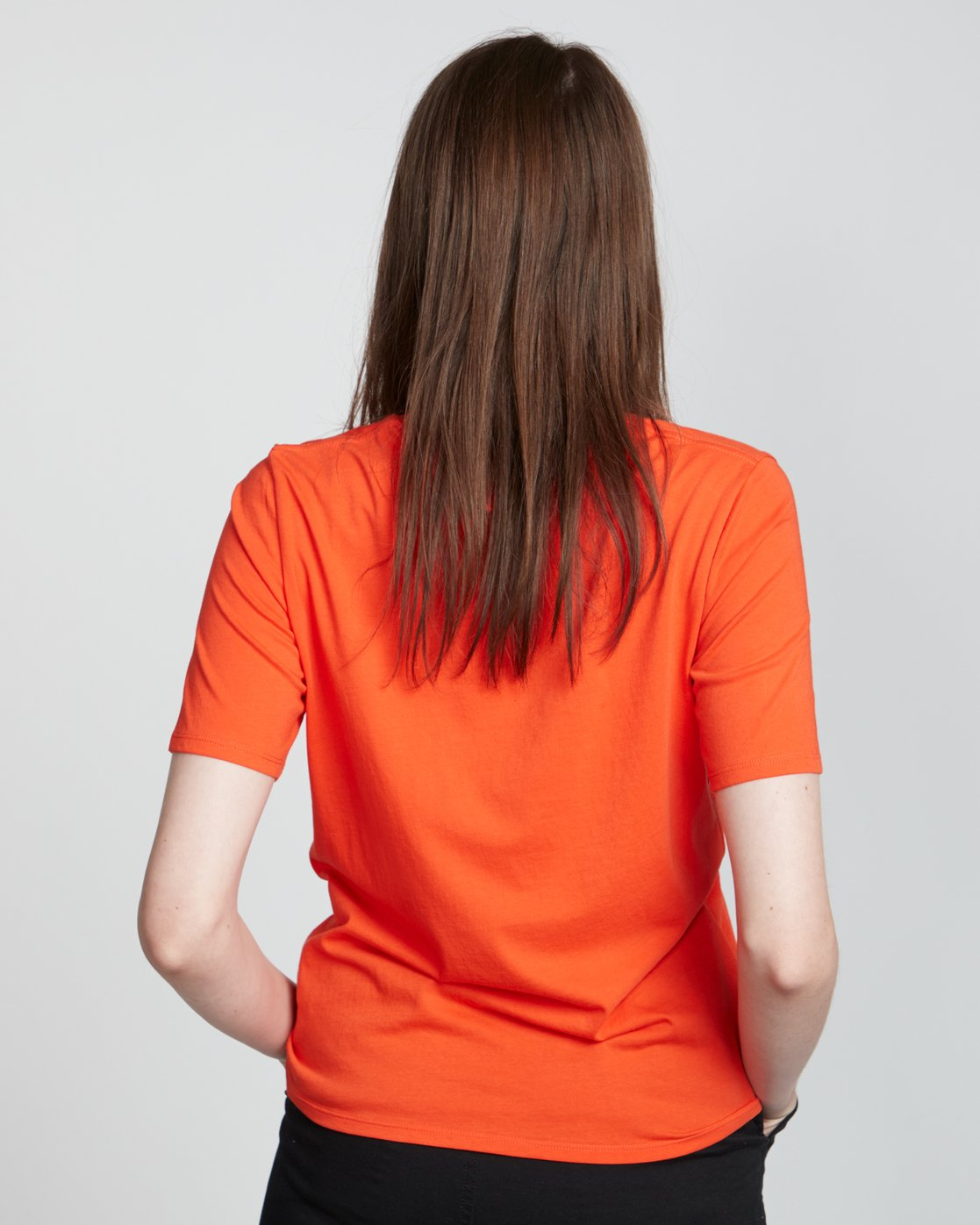 2 Element Logo - Organic Cotton Short Sleeve T-Shirt for Women Orange S3SSA1ELP0 Element