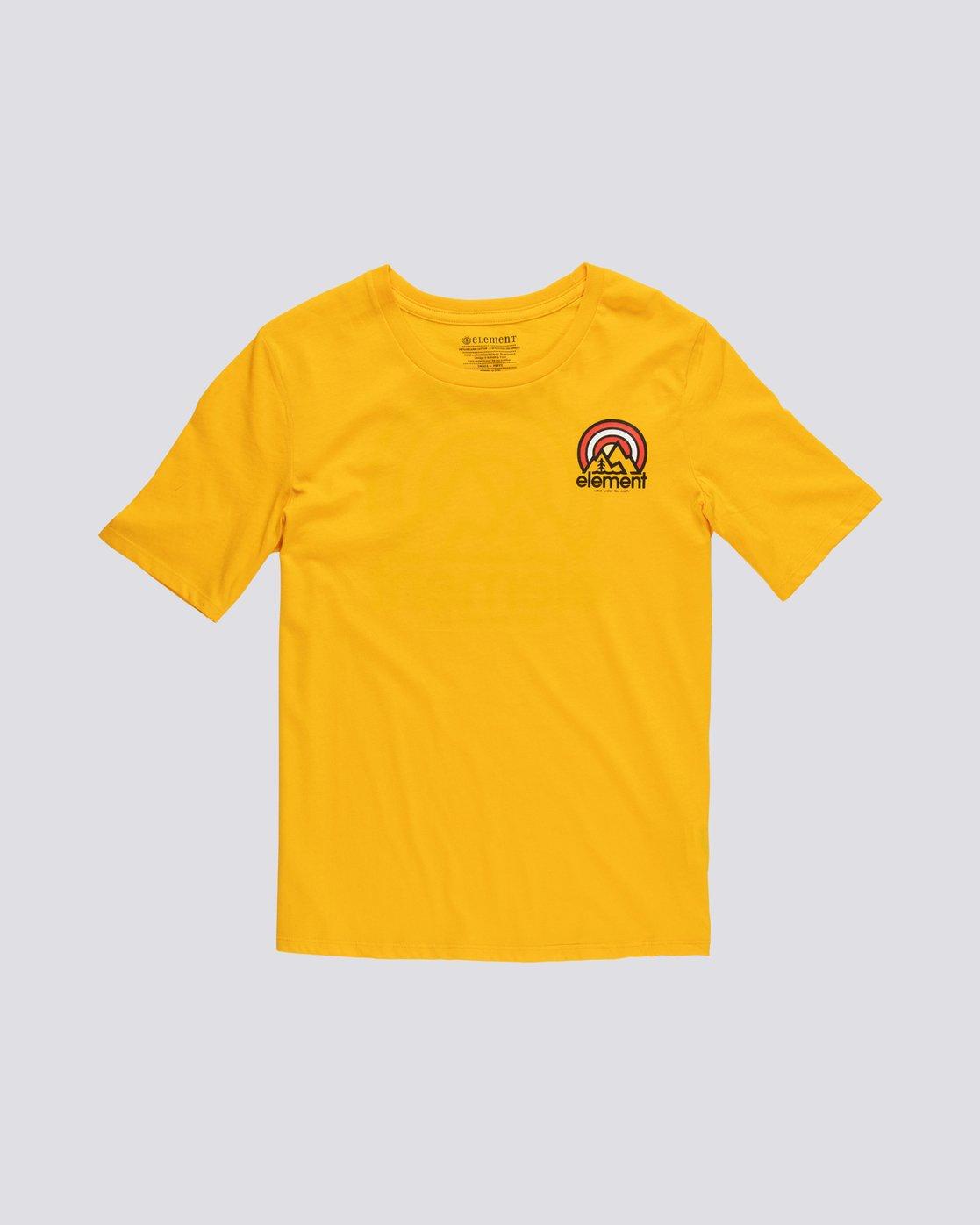 0 Branded - T-Shirt manches courtes en coton biologique pour Femme  S3SSA2ELP0 Element