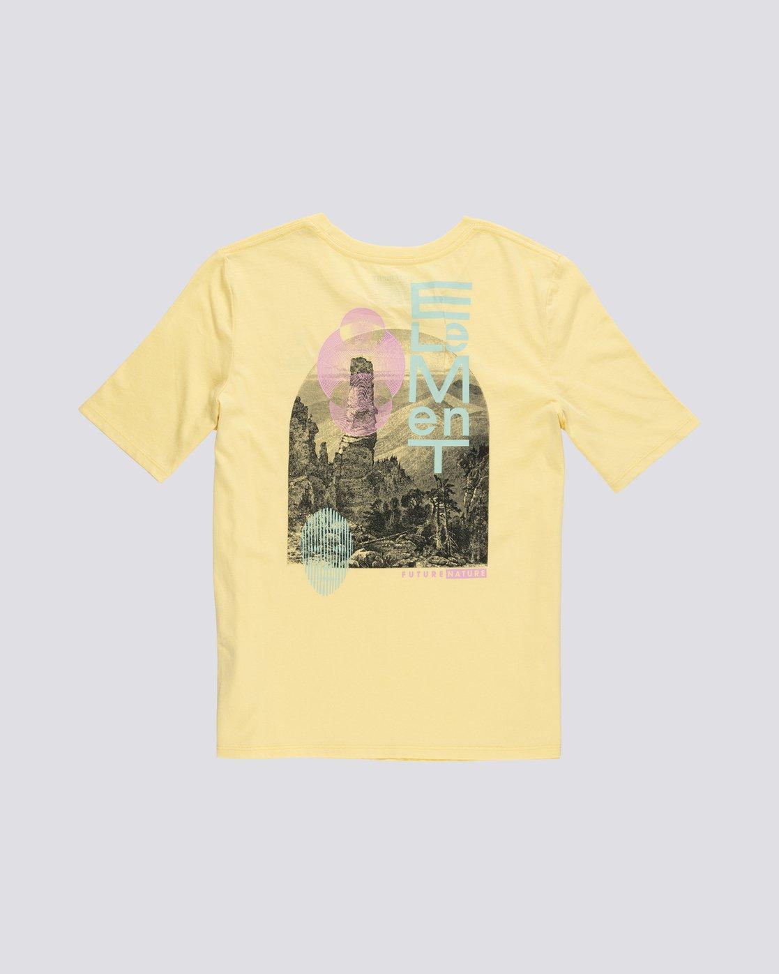 1 Modern - T-Shirt manches courtes en coton biologique pour Femme Jaune S3SSA5ELP0 Element
