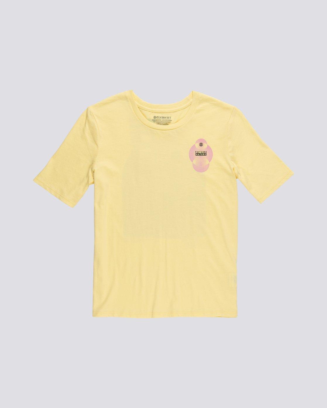 0 Modern - T-Shirt manches courtes en coton biologique pour Femme Jaune S3SSA5ELP0 Element