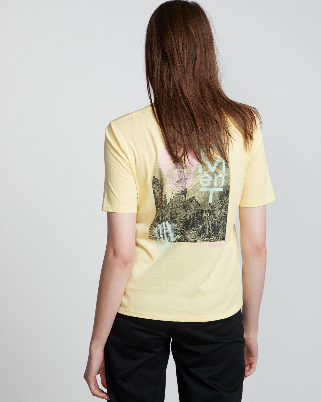2 Modern - T-Shirt manches courtes en coton biologique pour Femme Jaune S3SSA5ELP0 Element