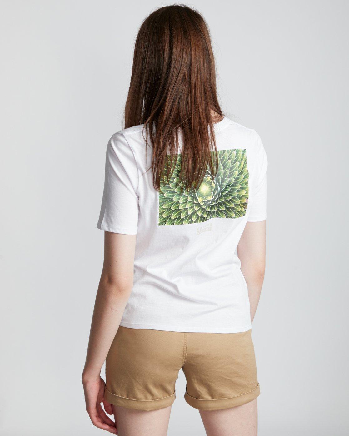 2 Nat Geo - T-Shirt manches courtes en coton biologique pour Femme Blanc S3SSA7ELP0 Element