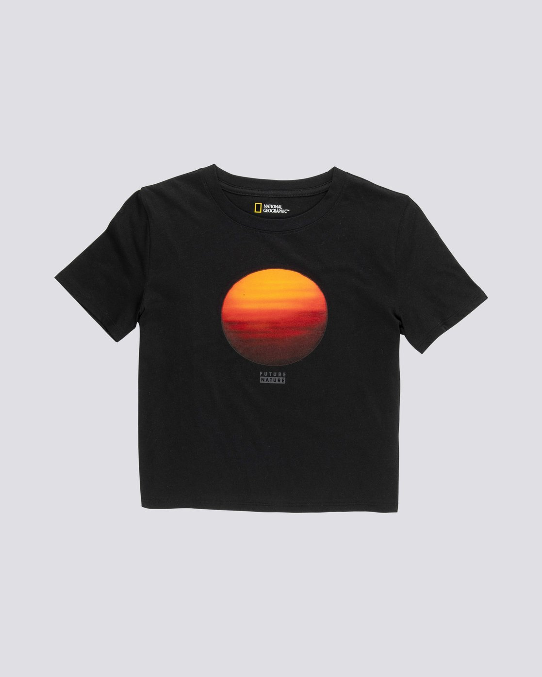 0 Nat Geo Crop - Organic Cotton Short Sleeve T-Shirt for Women Black S3SSA8ELP0 Element