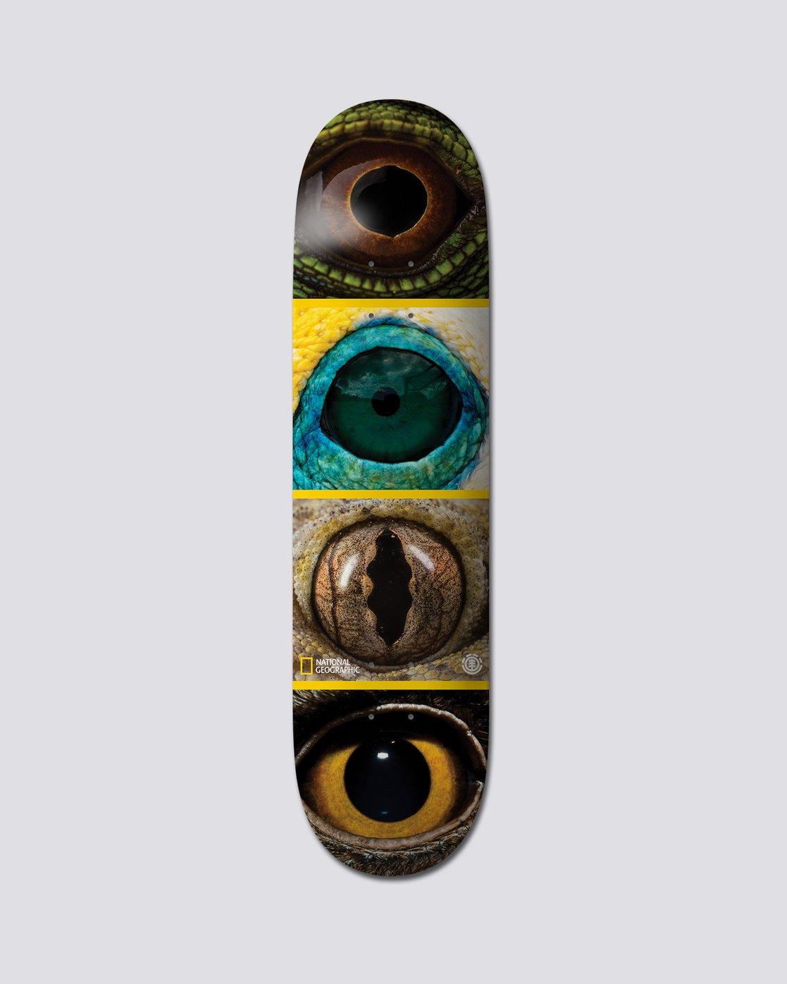 "0 National Geographic 8"" Nat Geo Eye Quad - Skate Decks  S4DCB4ELP0 Element"