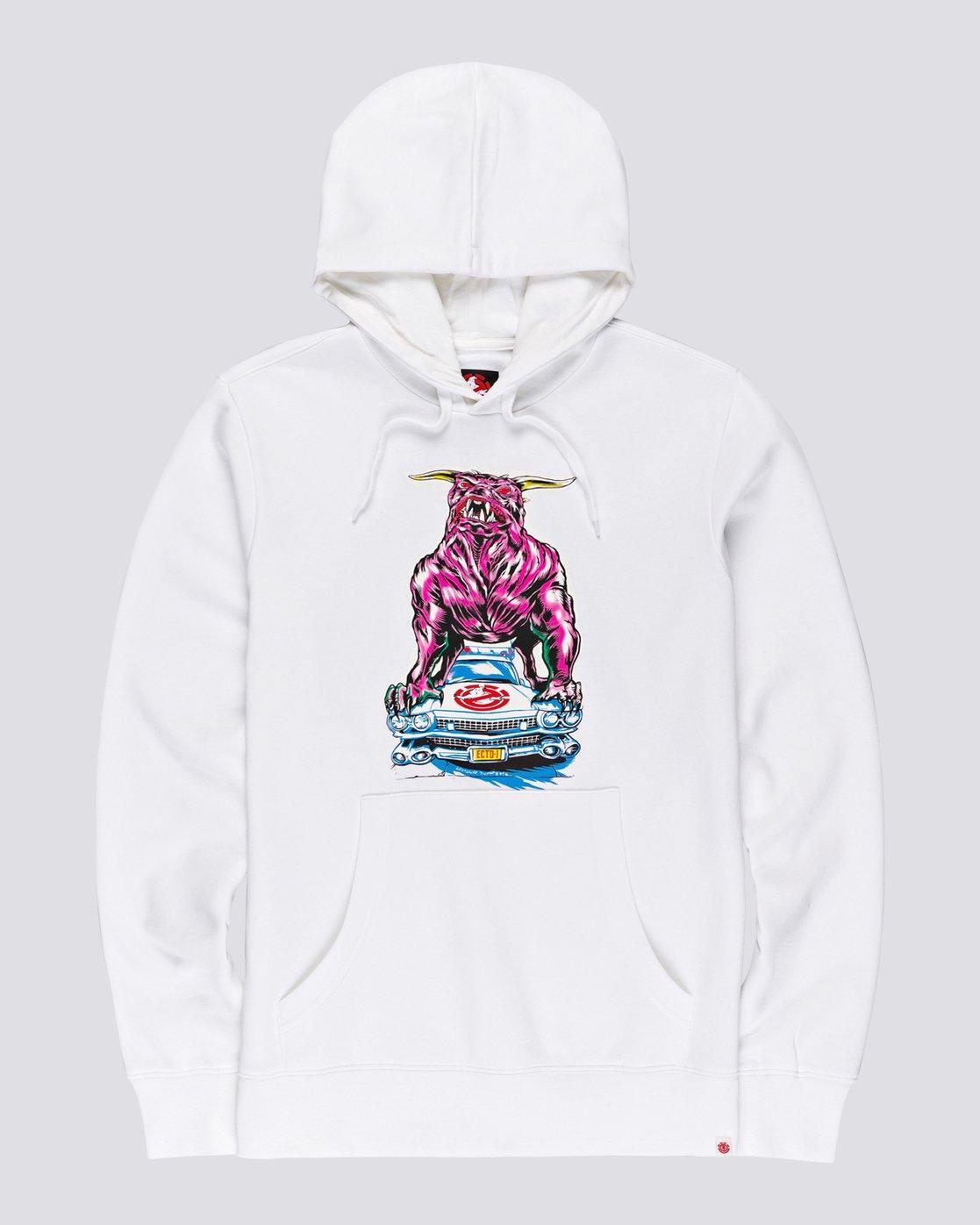 0 Ghostbusters Crushed - Hoodie for Men White U1HOE3ELF0 Element