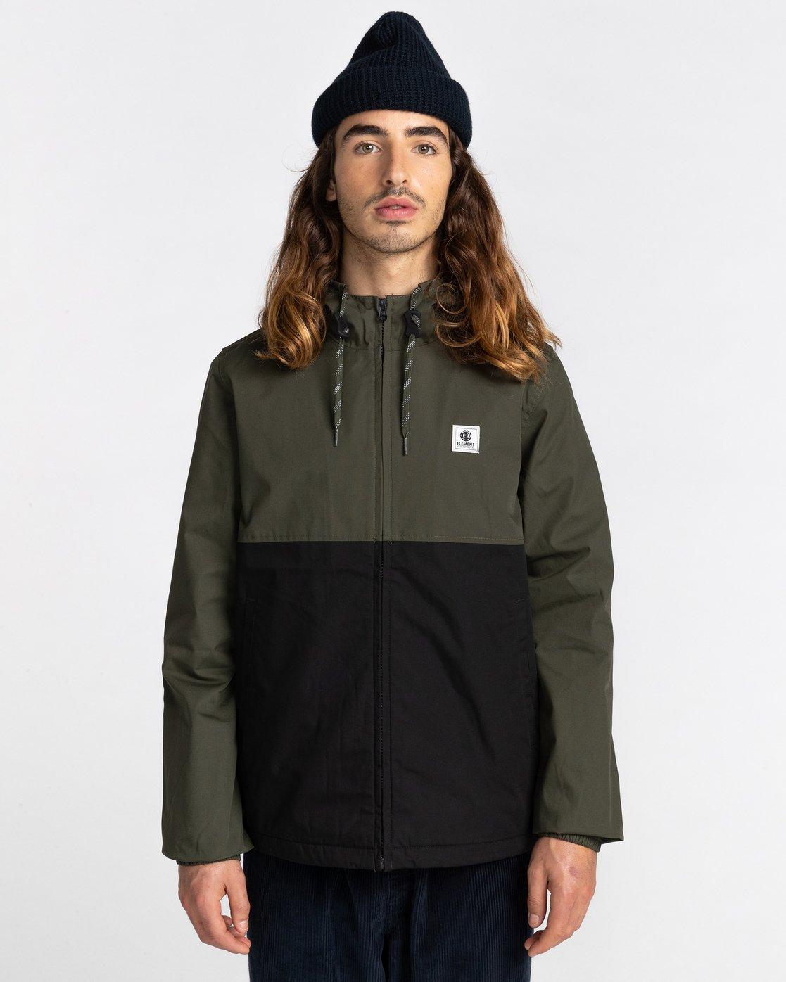 1 Wolfeboro Alder Two Tones - Water-Resistant Jacket for Men Black U1JKC4ELF0 Element