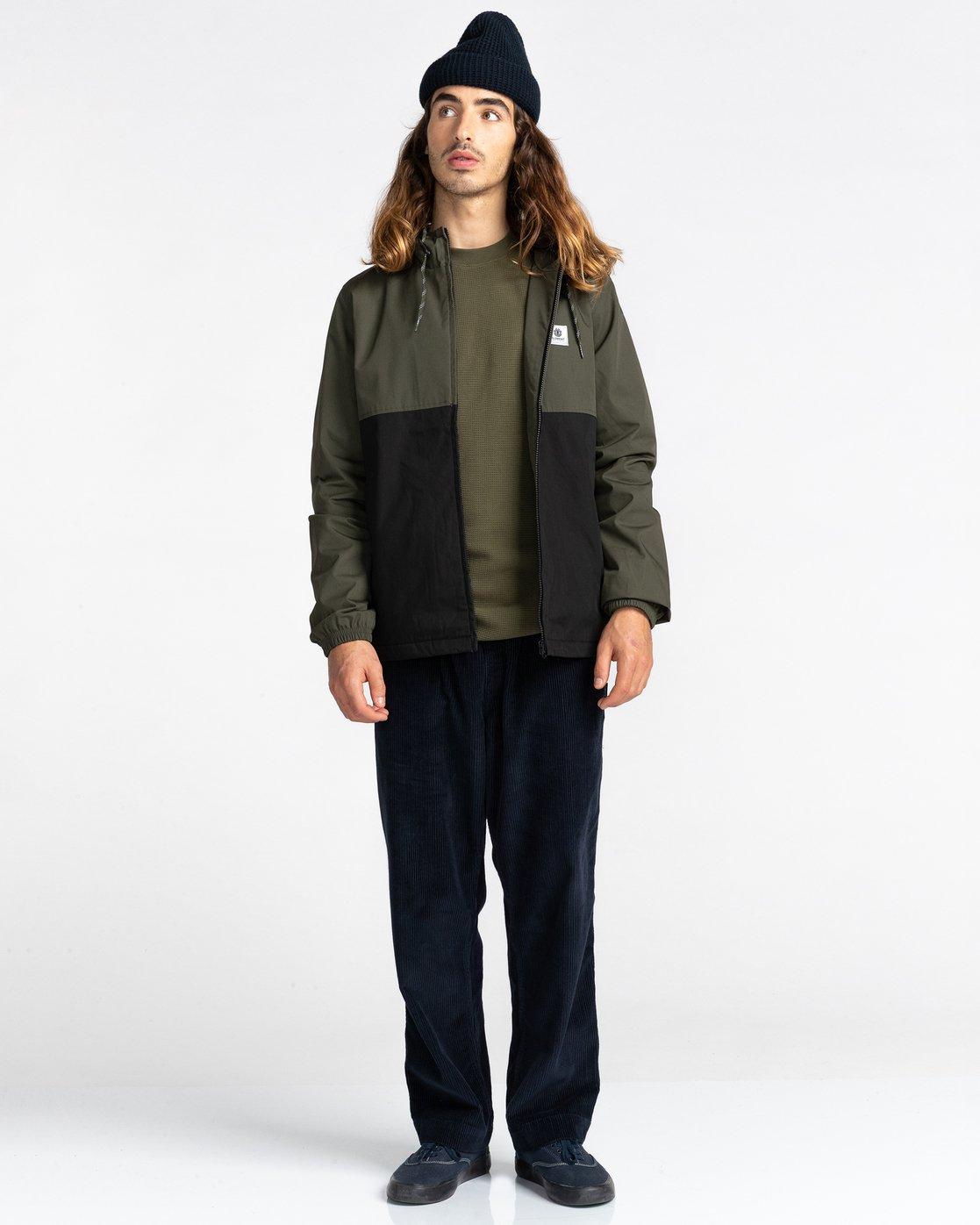 6 Wolfeboro Alder Two Tones - Water-Resistant Jacket for Men Black U1JKC4ELF0 Element