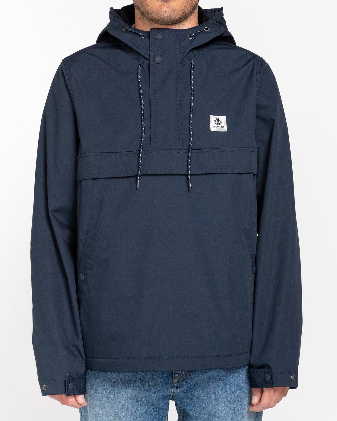 0 Wolfeboro Barrow - Water-Resistant Jacket for Men Blue U1JKC5ELF0 Element