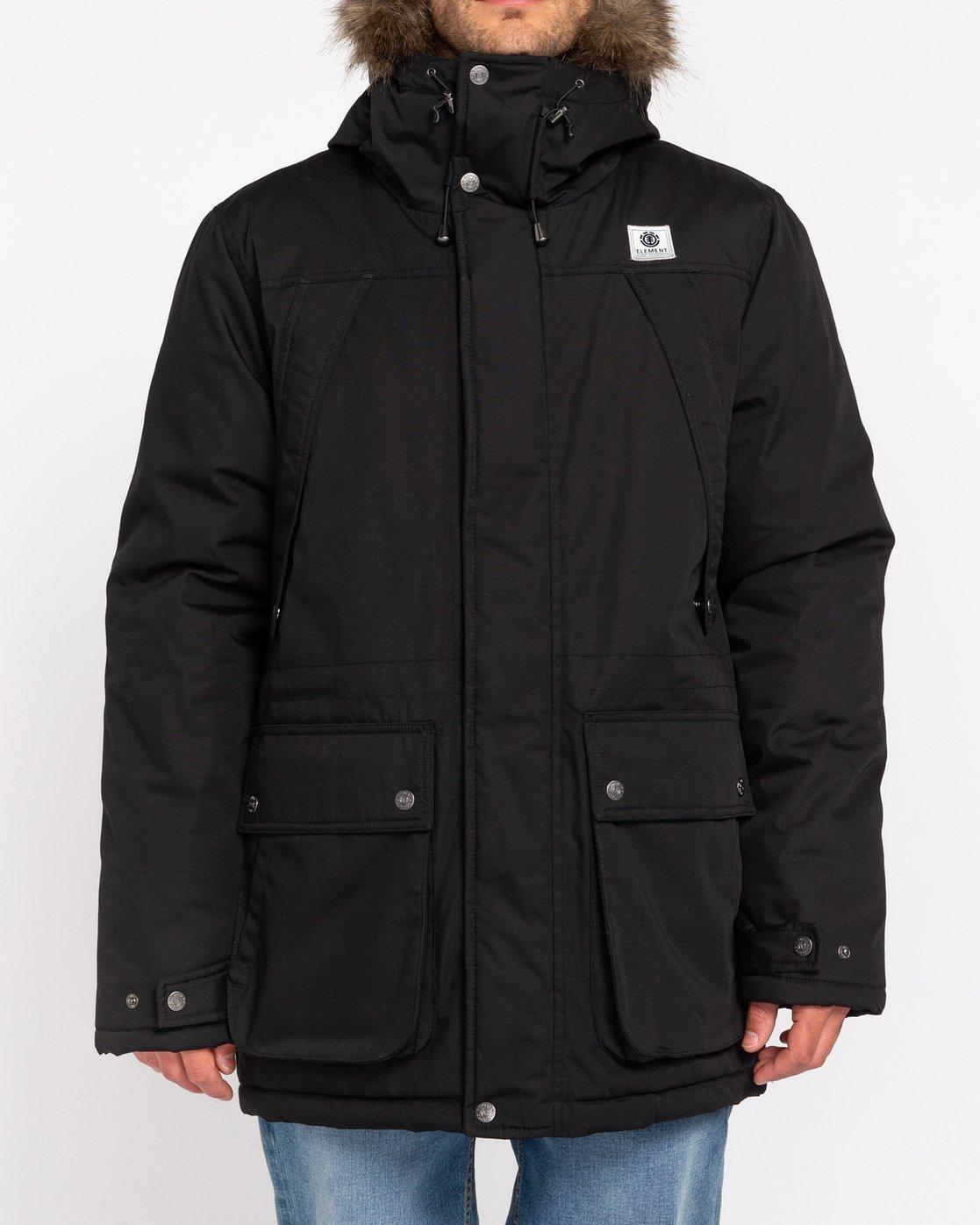 1 Wolfeboro Fargo - Water-Resistant Jacket for Men Black U1JKC9ELF0 Element