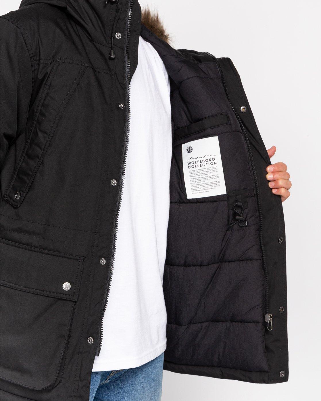 4 Wolfeboro Fargo - Water-Resistant Jacket for Men Black U1JKC9ELF0 Element