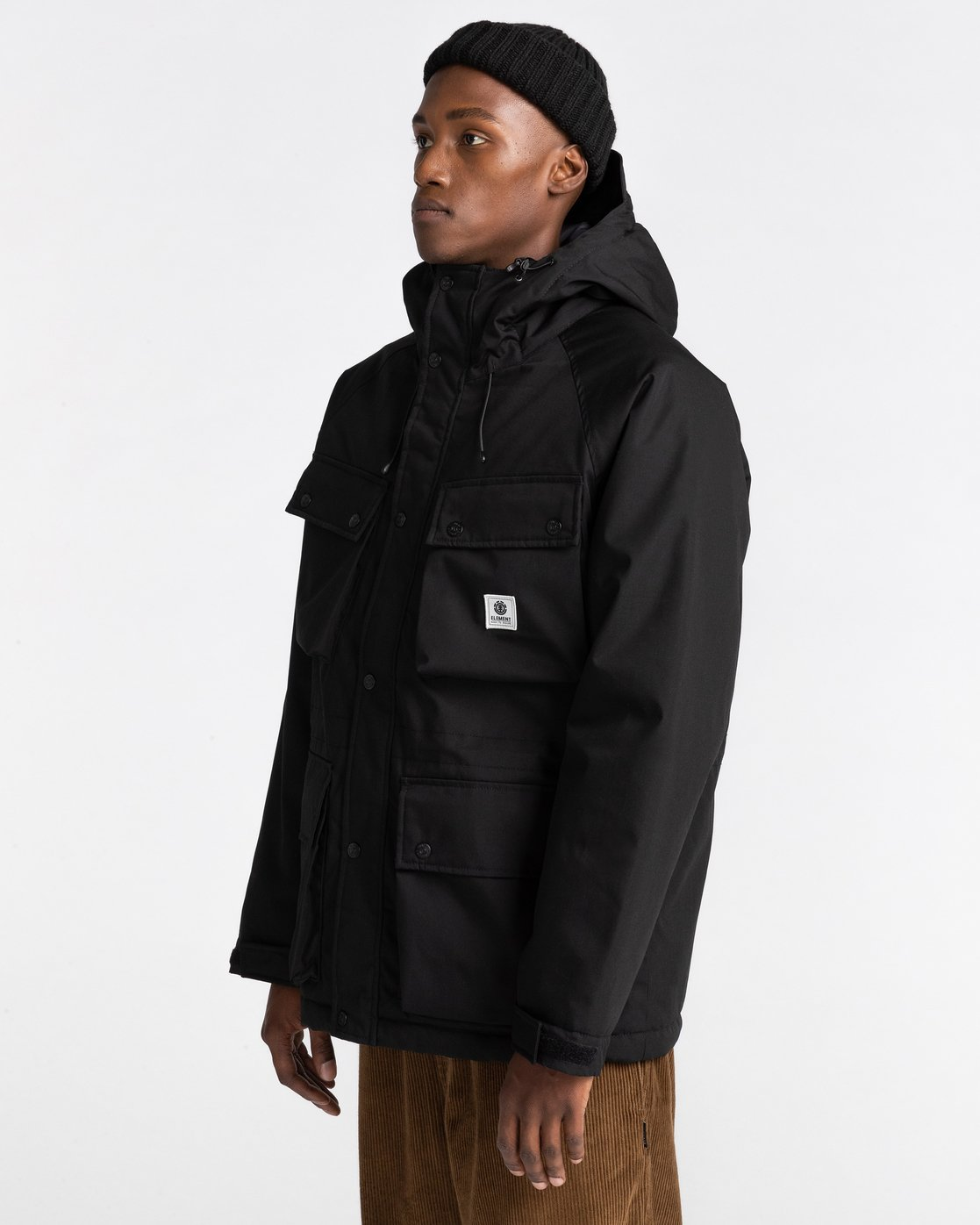 1 Wolfeboro Mountain - Water-Resistant Jacket for Men Black U1JKD4ELF0 Element