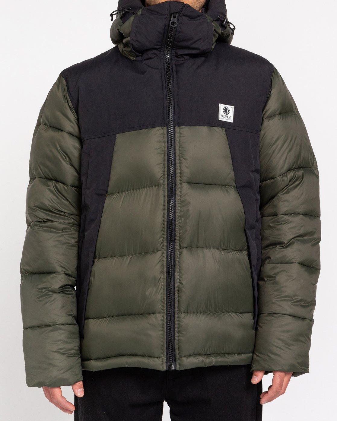 1 Wolfeboro Dulcey - Water-Resistant Jacket for Men Green U1JKD6ELF0 Element