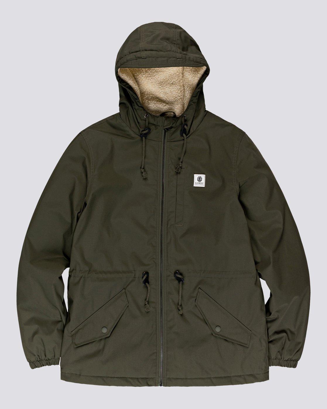 5 Wolfeboro Stark - Water-Resistant Jacket for Men Green U1JKF4ELF0 Element