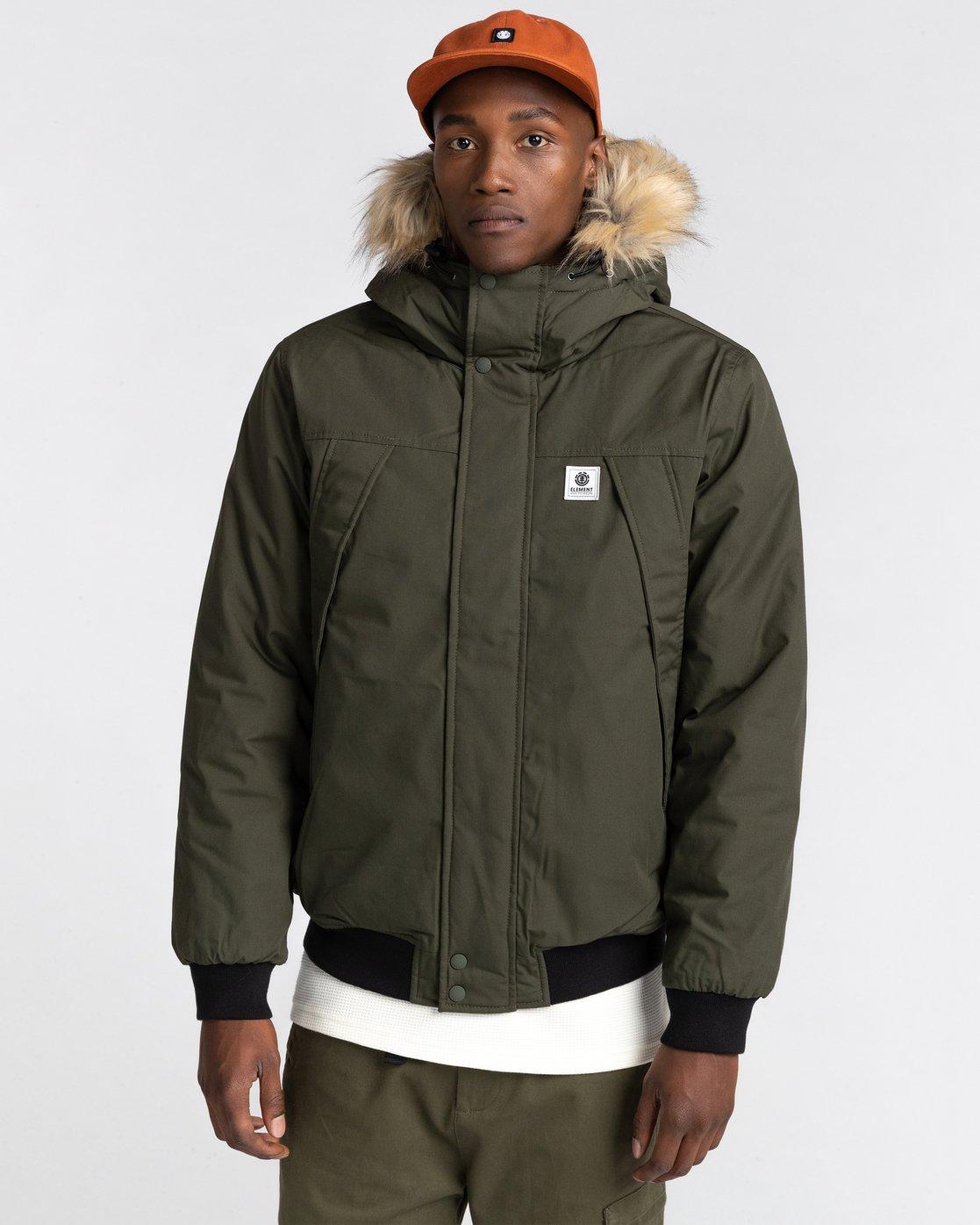0 Wolfeboro Dulcey Explorer - Water-Resistant Jacket for Men Green U1JKF5ELF0 Element