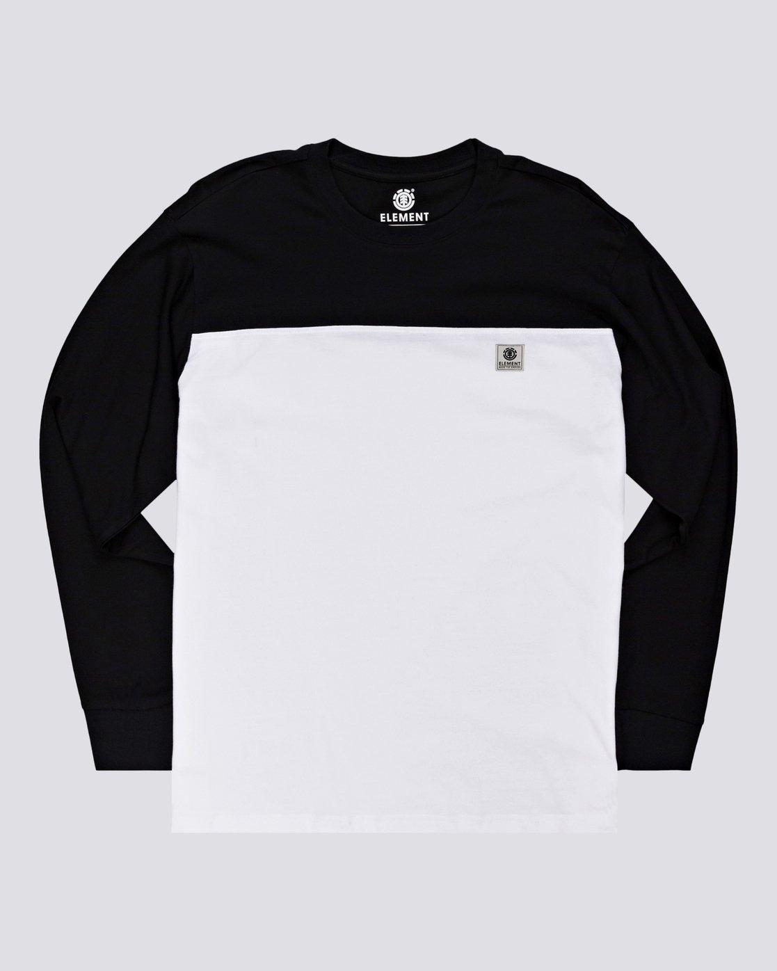 1 Basic Baseball - T-shirt manches longues pour Homme Noir U1LSB9ELF0 Element