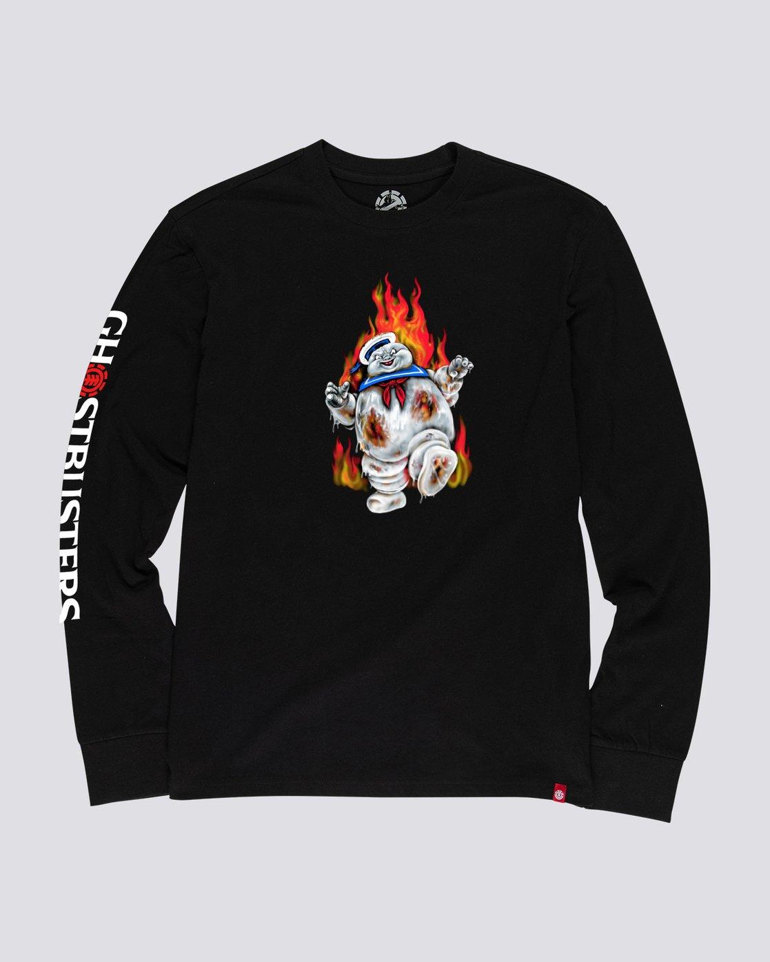 0 Ghostbusters Inferno - T-shirt manches longues pour Homme Noir U1LSE2ELF0 Element