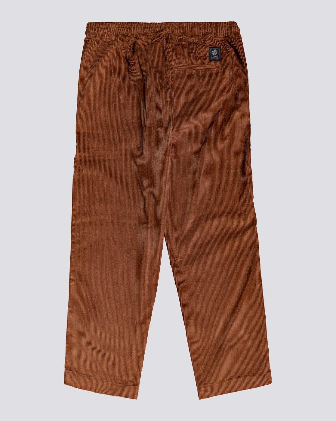 1 Chillin' - Corduroy Trousers for Men Red U1PTC2ELF0 Element
