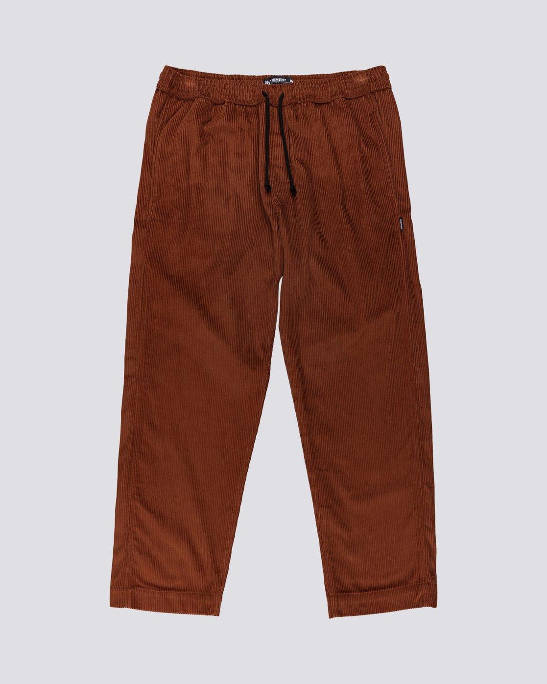 0 Chillin' - Corduroy Trousers for Men Red U1PTC2ELF0 Element