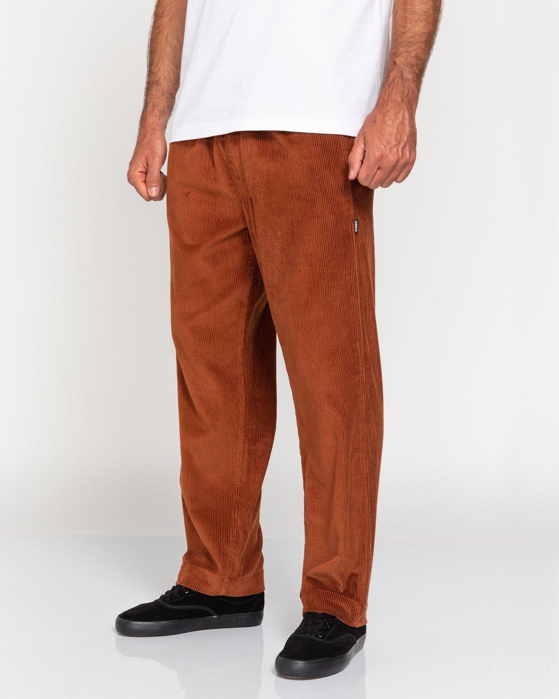 3 Chillin' - Corduroy Trousers for Men Red U1PTC2ELF0 Element
