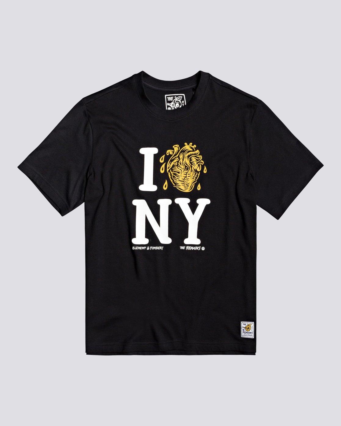 0 Timber! The Remains I Heart - T-Shirt for Men Black U1SSH2ELF0 Element
