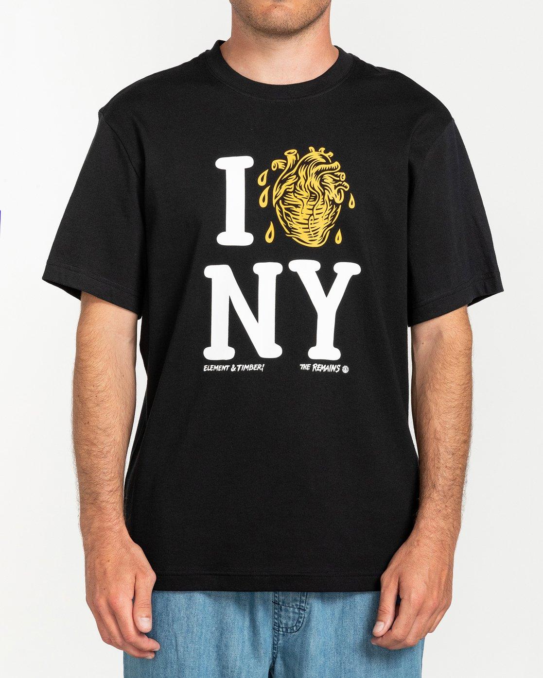 1 Timber! The Remains I Heart - T-Shirt for Men Black U1SSH2ELF0 Element