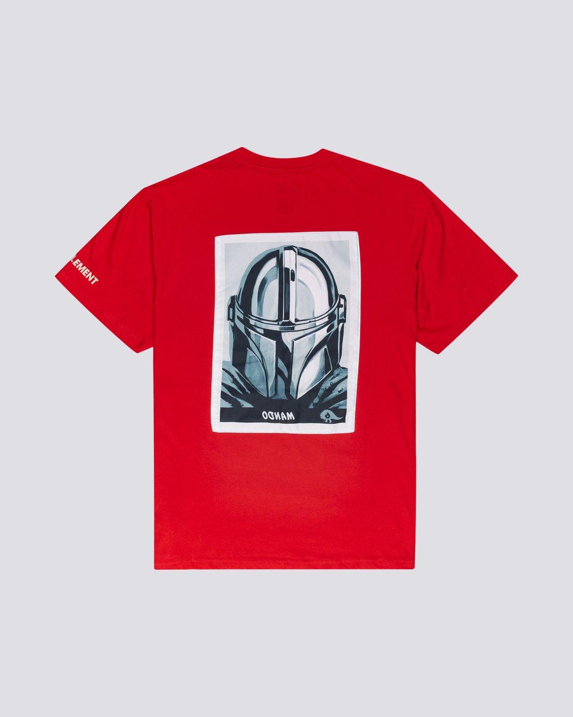 1 Star Wars X Element Mando - Camiseta para Hombre Rojo U1SSO3ELF0 Element