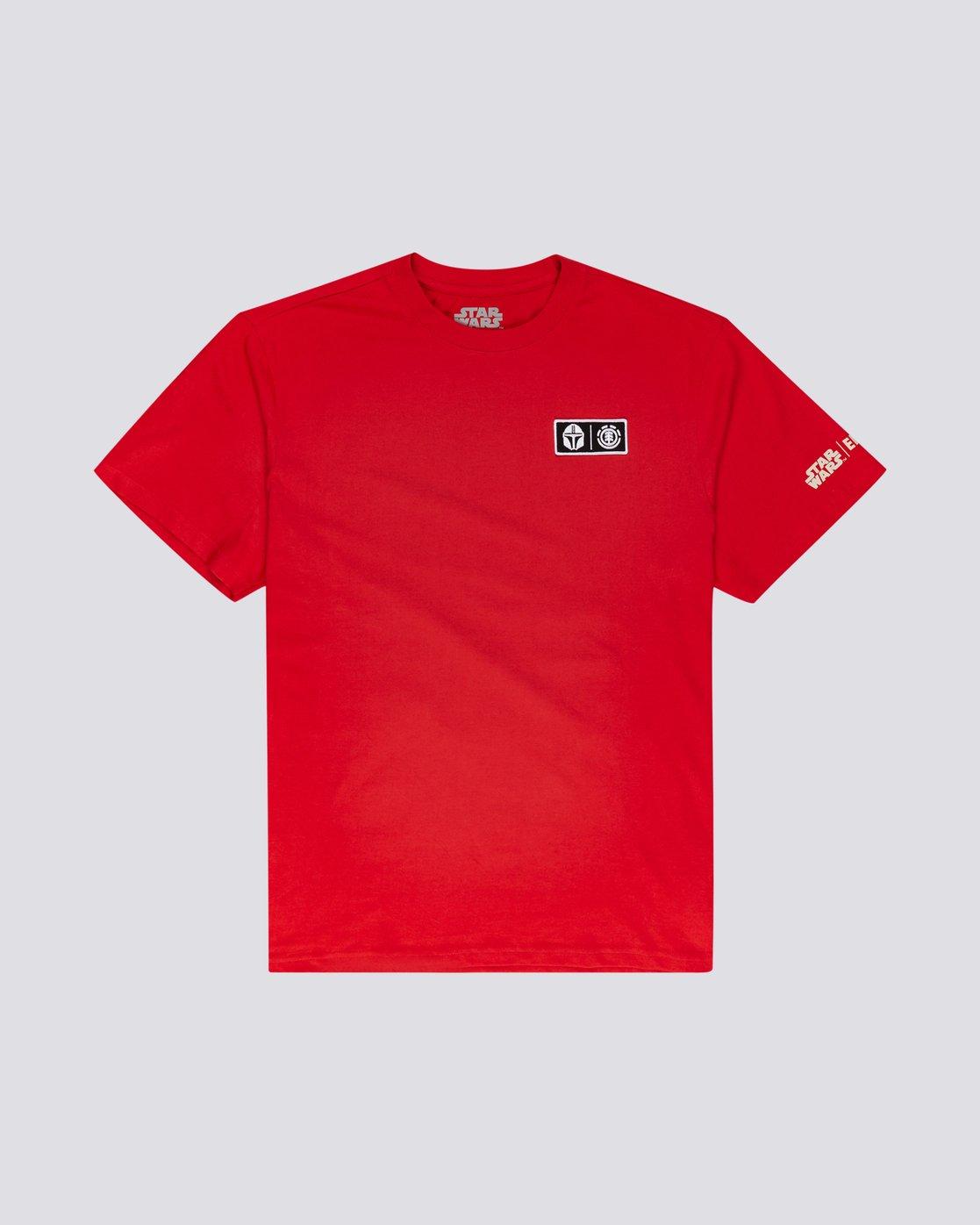 0 Star Wars X Element Mando - Camiseta para Hombre Rojo U1SSO3ELF0 Element