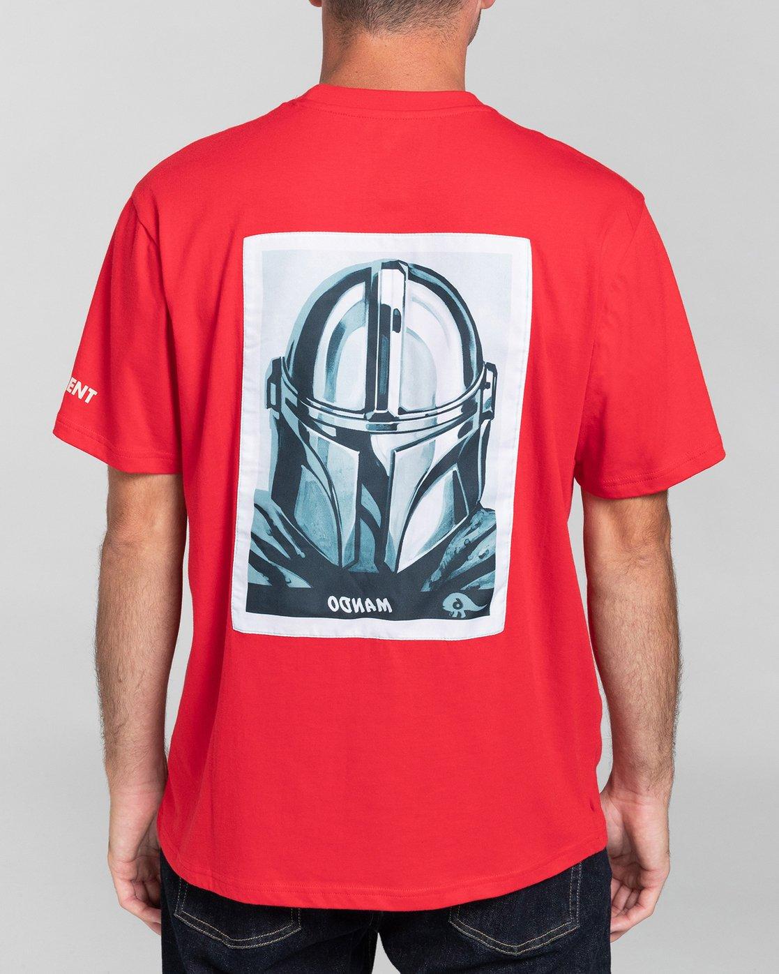 3 Star Wars X Element Mando - Camiseta para Hombre Rojo U1SSO3ELF0 Element