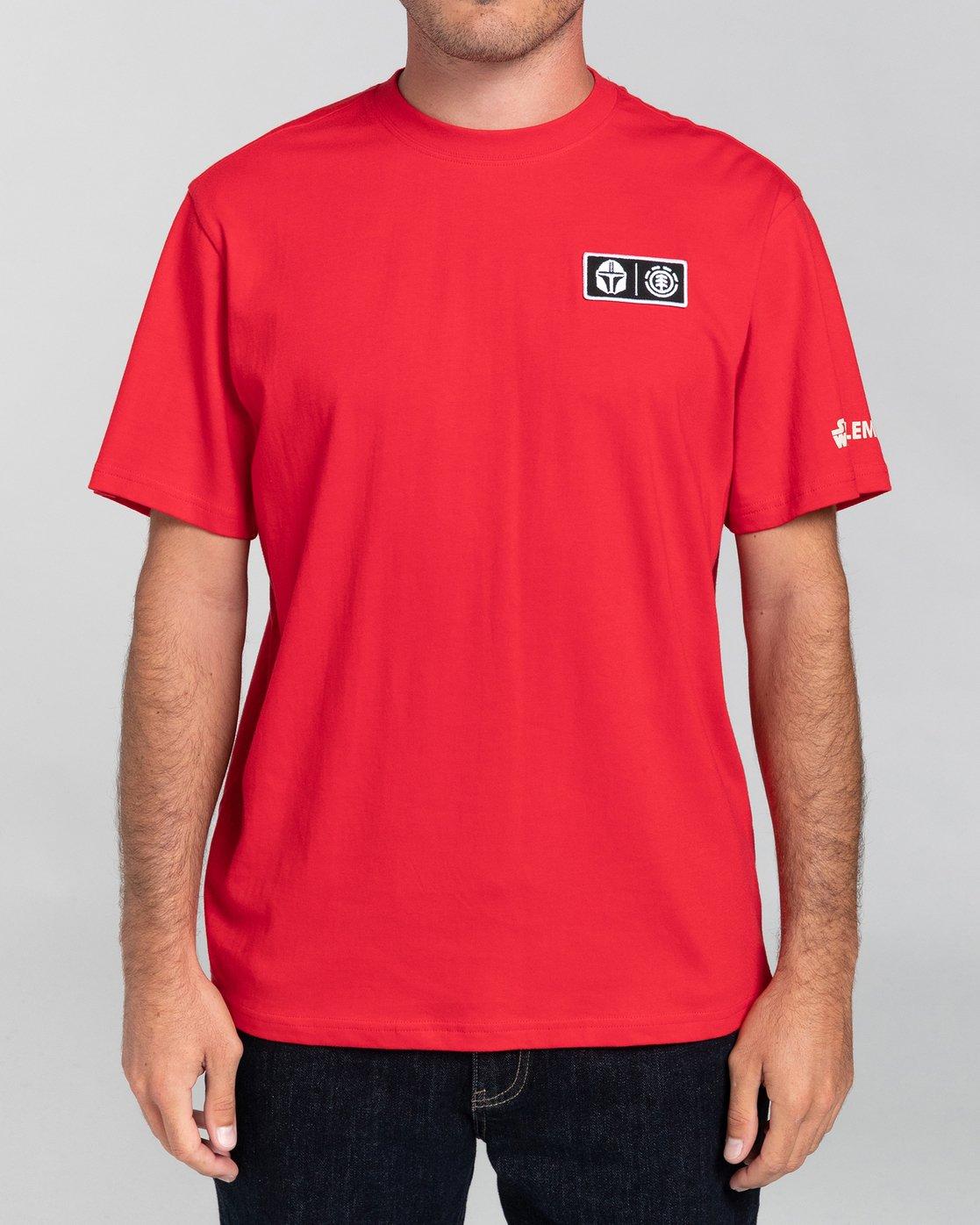 2 Star Wars X Element Mando - Camiseta para Hombre Rojo U1SSO3ELF0 Element