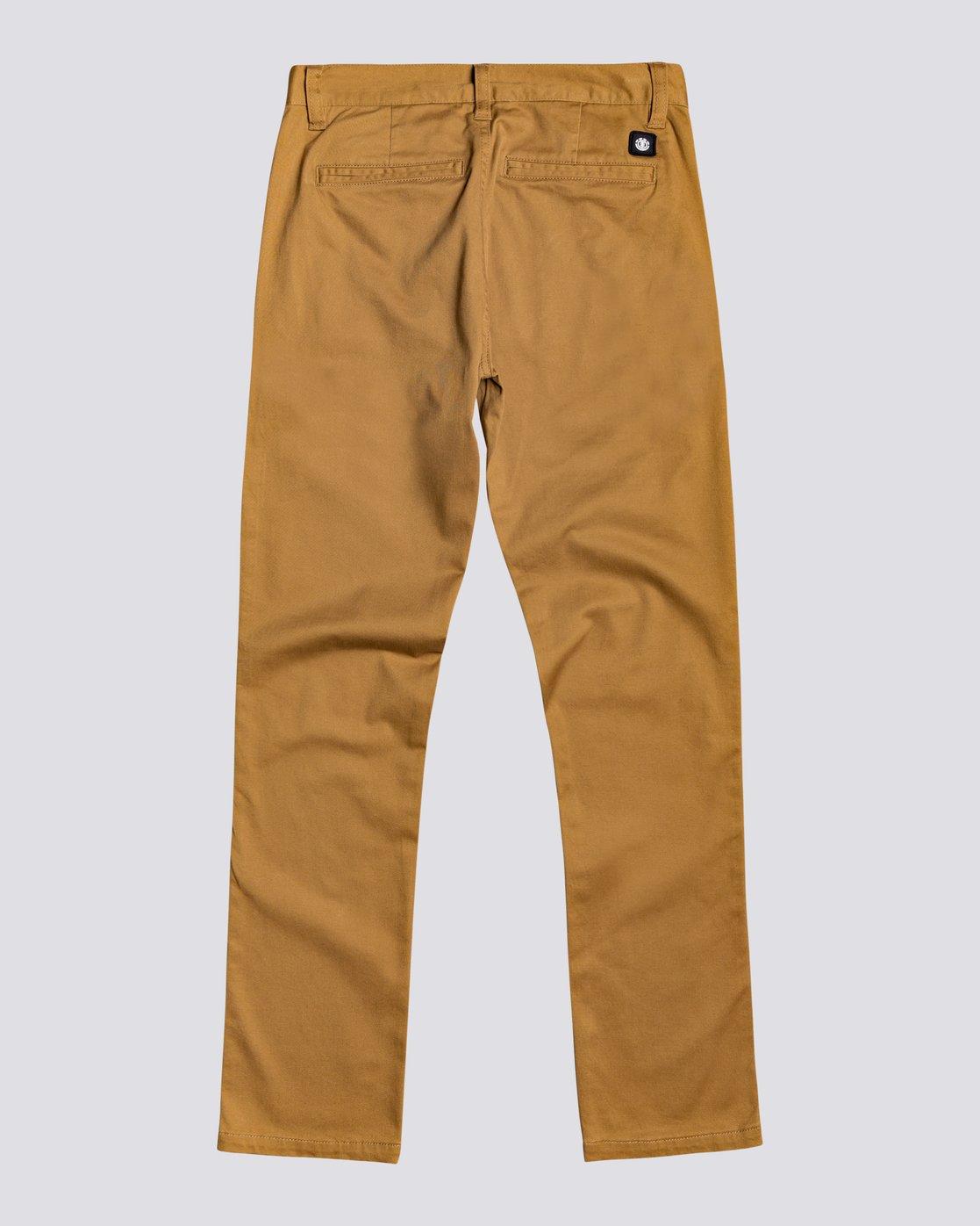 1 Howland - Pantalon Slim pour Garçon Marron U2PTA1ELF0 Element