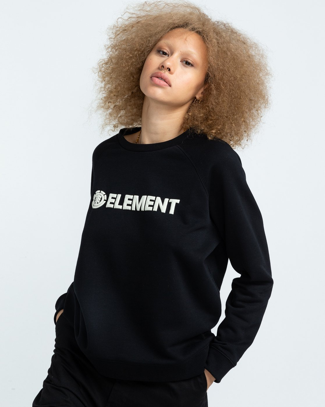 1 Logic - Sweat pour Femme Noir U3CRA2ELF0 Element
