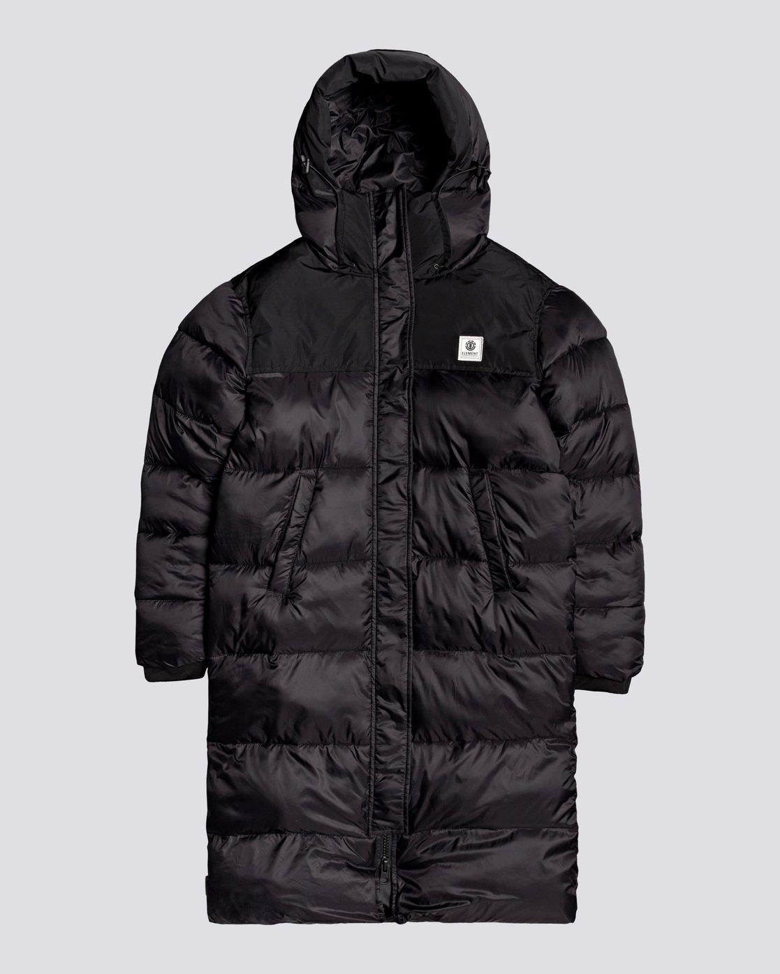 4 Wolfeboro Dulcey Puff Long - Puffer Jacket for Women Black U3JKA7ELF0 Element