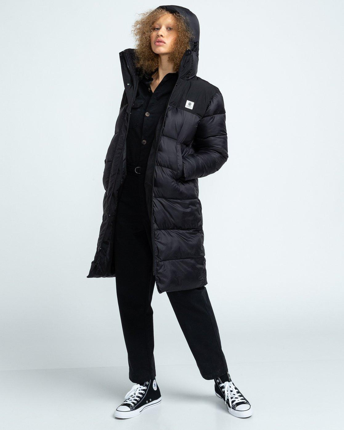 0 Wolfeboro Dulcey Puff Long - Puffer Jacket for Women Black U3JKA7ELF0 Element