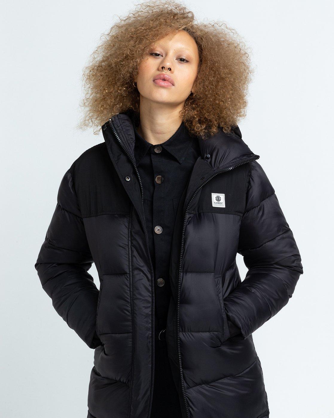 1 Wolfeboro Dulcey Puff Long - Puffer Jacket for Women Black U3JKA7ELF0 Element