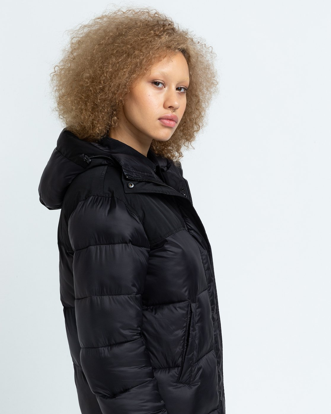 2 Wolfeboro Dulcey Puff Long - Puffer Jacket for Women Black U3JKA7ELF0 Element