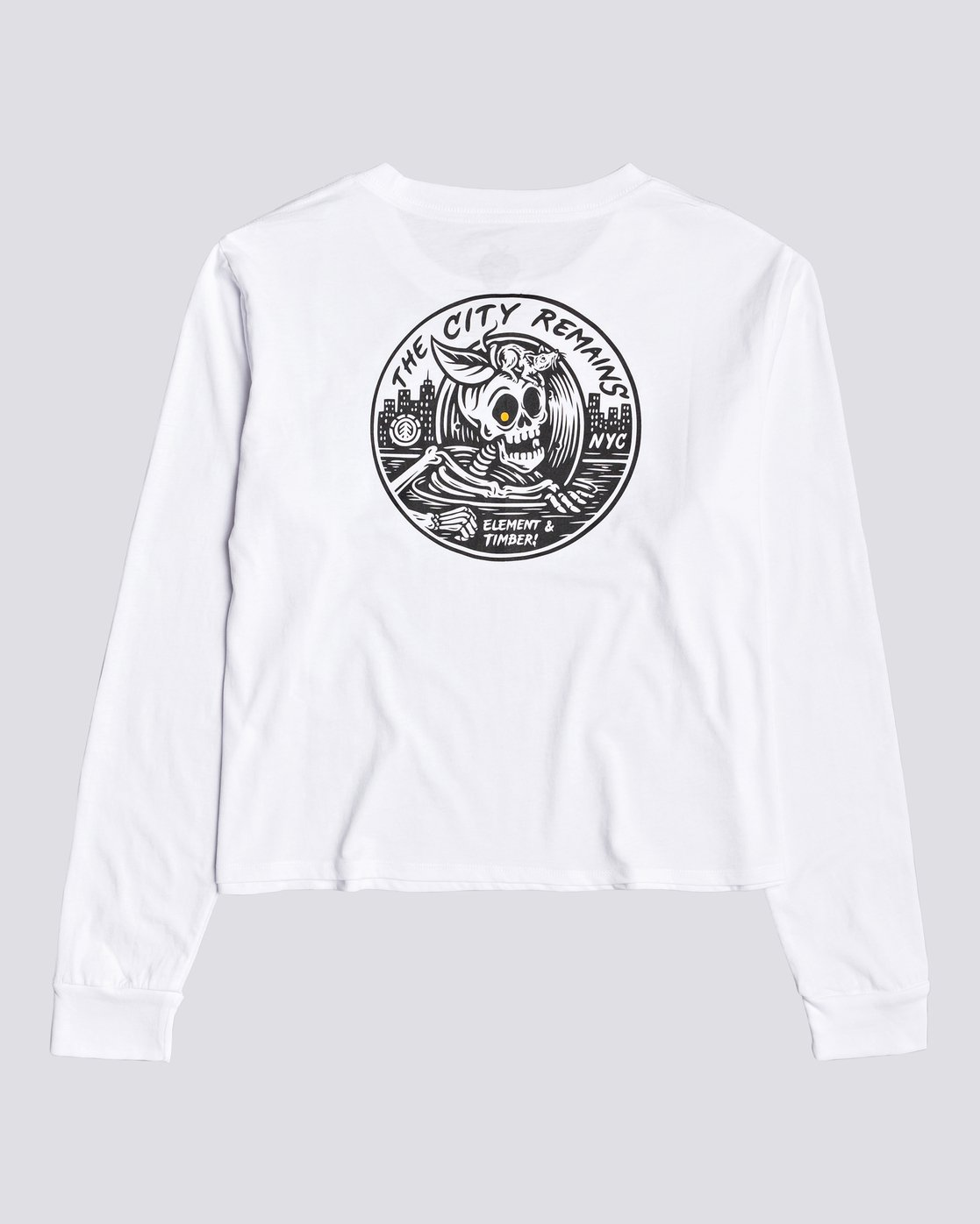 0 Timber! The Remains B Side Crop - T-shirt manches longues pour Femme Blanc U3LSA1ELF0 Element