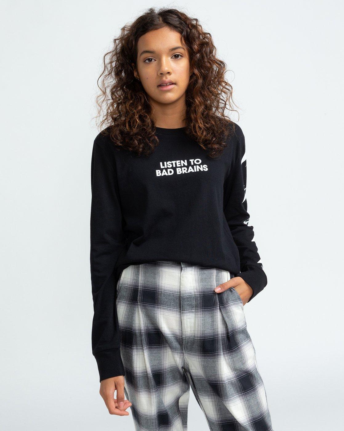 2 Bad Brains Listen 2 Bb - Long Sleeve T-Shirt for Women Black U3LSA3ELF0 Element