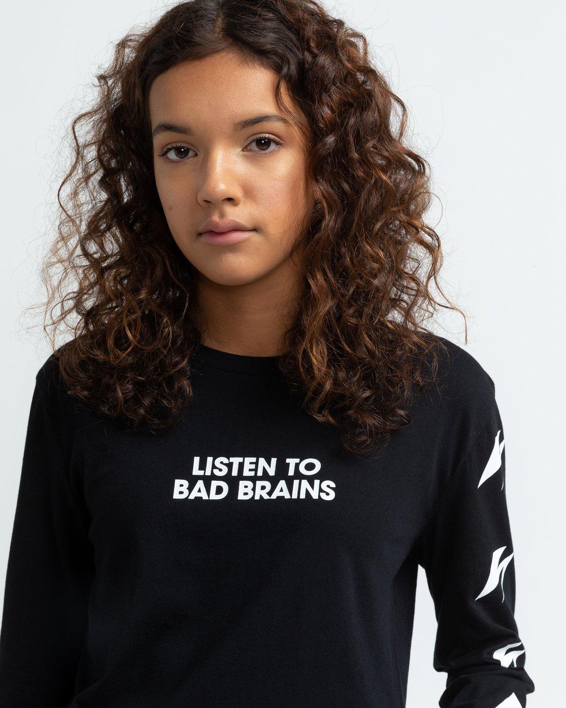 4 Bad Brains Listen 2 Bb - Long Sleeve T-Shirt for Women Black U3LSA3ELF0 Element