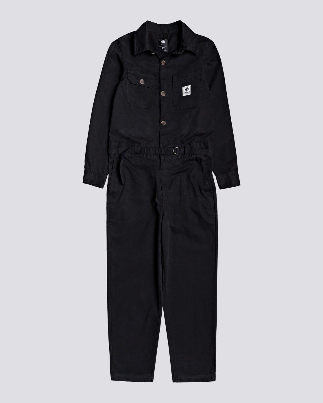 0 Utility - Boilersuit for Women Black U3PTA4ELF0 Element