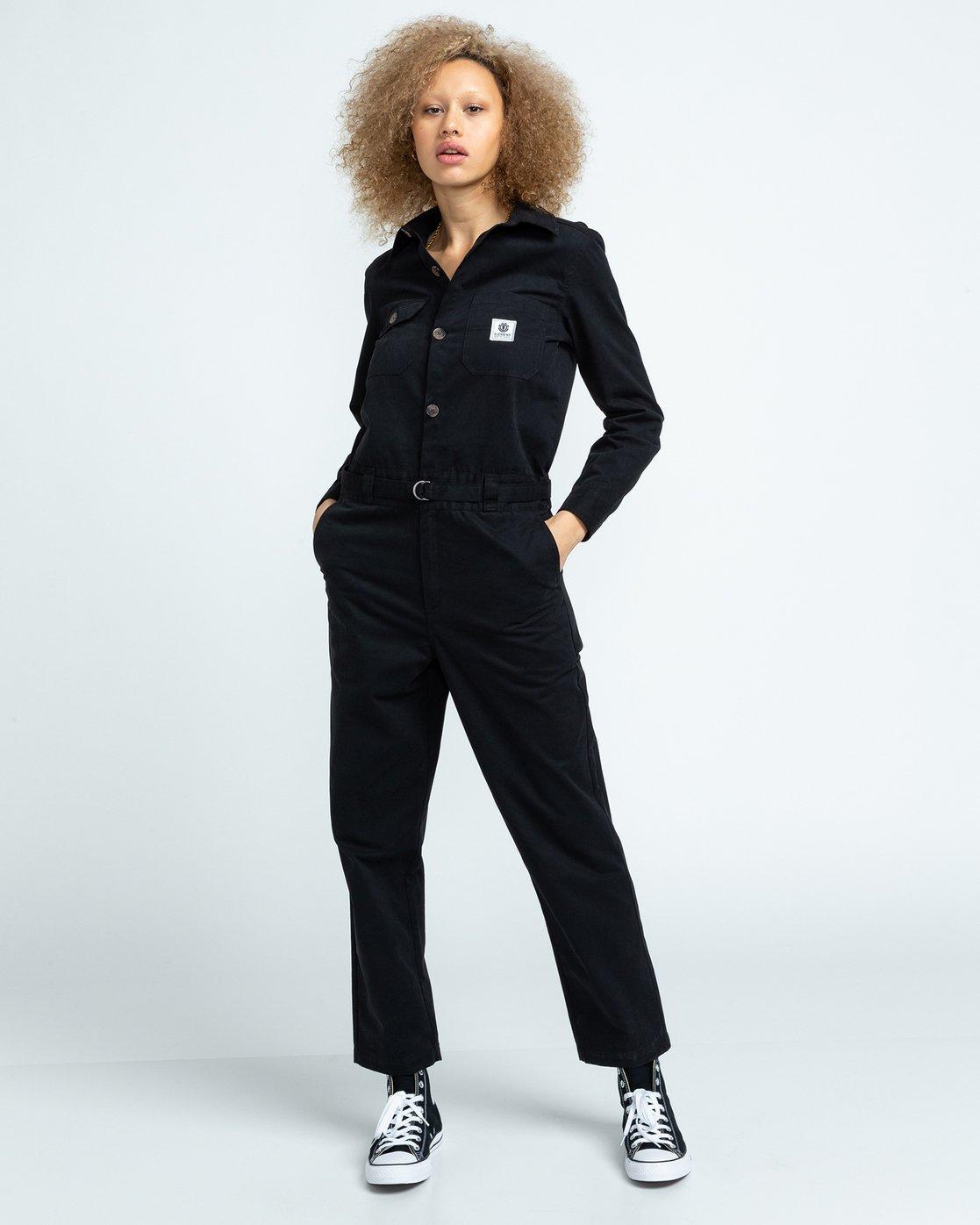 1 Utility - Boilersuit for Women Black U3PTA4ELF0 Element