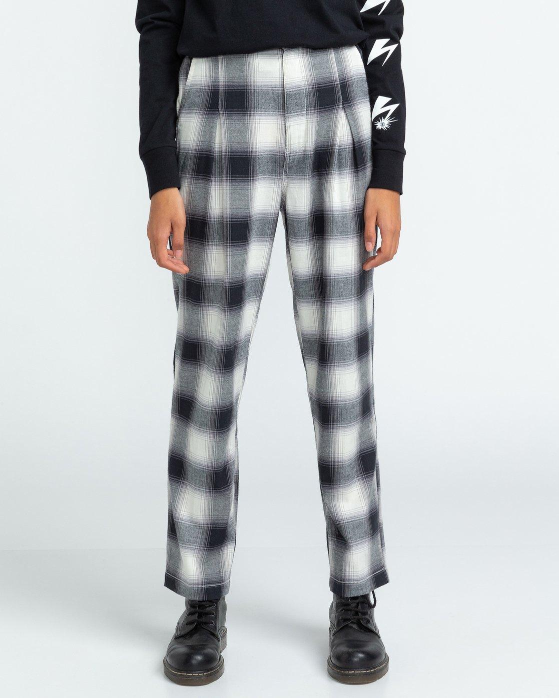 2 Trigga - High Waist Trousers for Women Black U3PTA5ELF0 Element