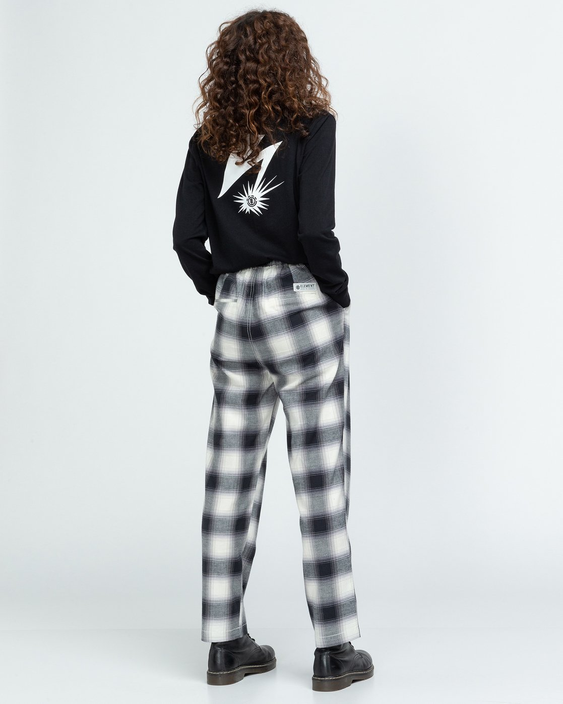 3 Trigga - High Waist Trousers for Women Black U3PTA5ELF0 Element