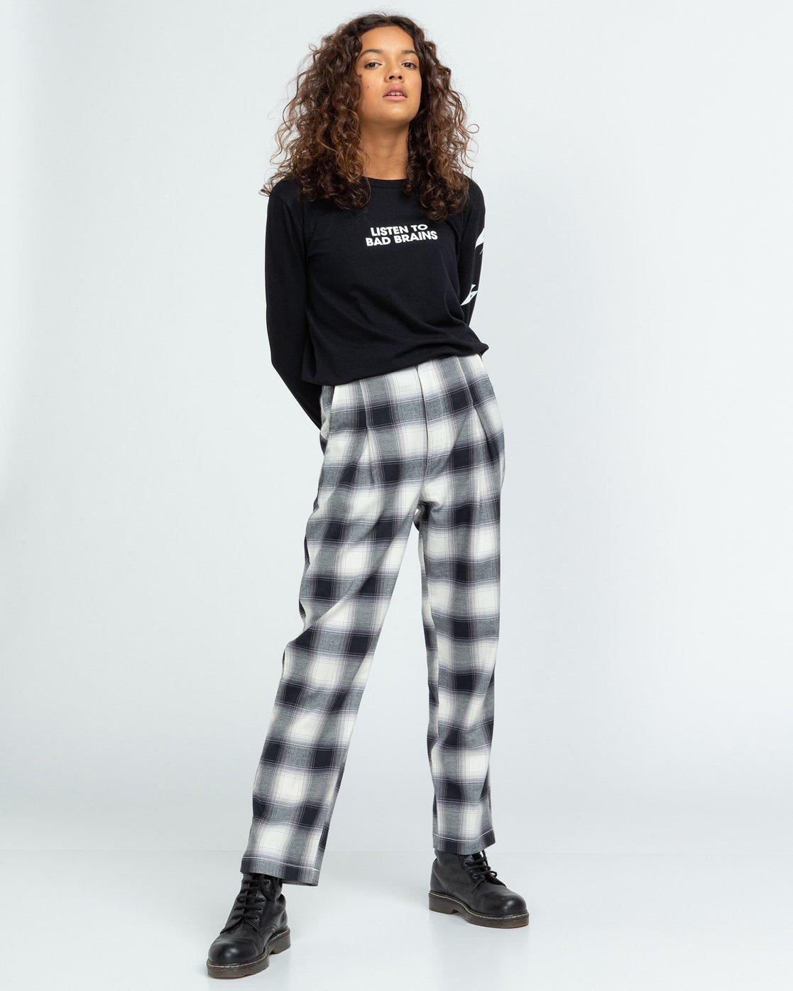 4 Trigga - High Waist Trousers for Women Black U3PTA5ELF0 Element
