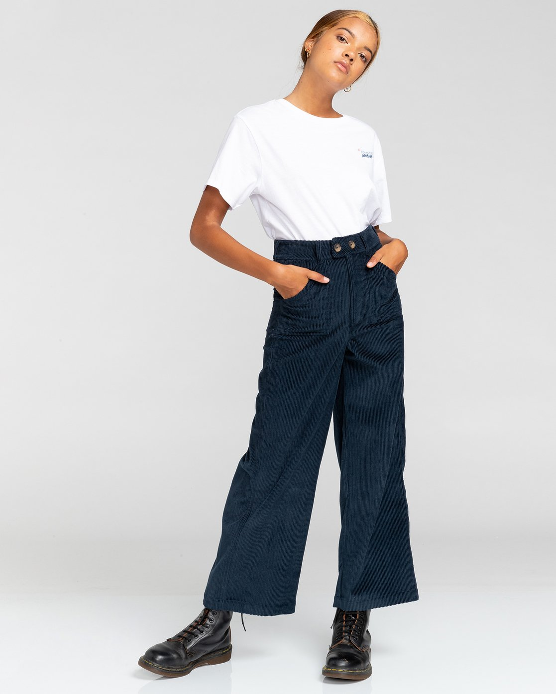 2 Gresham - High Waist Trousers for Women Blue U3PTA6ELF0 Element