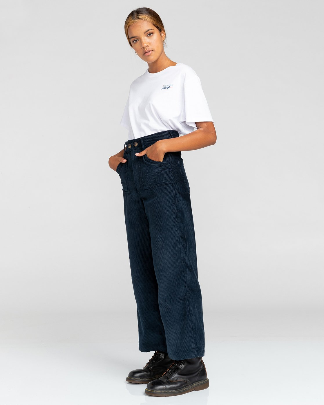 3 Gresham - High Waist Trousers for Women Blue U3PTA6ELF0 Element