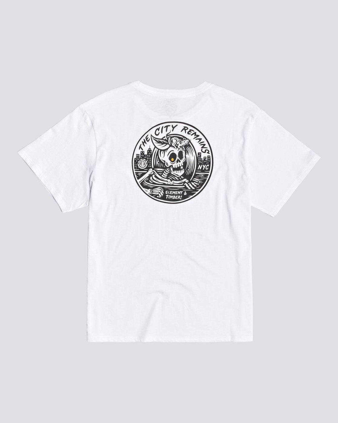 0 Timber! The Remains B-Side - T-shirt pour Femme Blanc U3SSA1ELF0 Element